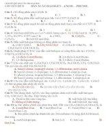 CHUYÊN ĐỀ HOÁ ÔN THI ĐẠI HỌC CHUYÊN ĐỀ 10: DẪN XUẤT HALOGEN - ANCOL -PHENOL pot