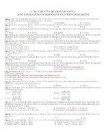 CÁC CHUYÊN ĐỀ HOÁ VÔ CƠ 12 KIM LOẠI KIỀM VÀ HỢP CHẤT CỦA KIM LOẠI KIỀM ppt