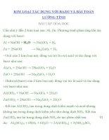 BÀI TẬP HÓA HỌC LỚP 10 CHUYÊN ĐỀ :KIM LOẠI TÁC DỤNG VỚI BAZƠ VÀ BÀI TOÁN LƯỠNG TÍNH BÀI TẬP HÓA HỌC pot