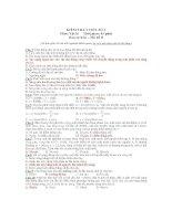 KIỂM TRA 1 TIẾT SỐ 1 Môn: Vật lý - Mã đề B ppsx