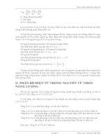 Giáo trình hướng dẫn cơ bản về cơ học nguyên lượng và cách phân bố điện tử trong nguyên tử theo năng lượng phần 2 pps