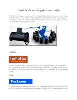 7 website tốt nhất để gửi fax trực tuyến ppsx