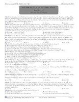 Đề thi tự luyện đại học môn vật lý - 15 pps