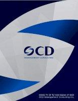 báo cáo giới thiệu năng lực công ty cổ phần tư vấn quản lý ocd ocd management consulting