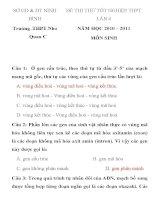 ĐỀ THI THỬ TỐT NGHIỆP THPT LẦN 4 MÔN SINH HỌC SỞ GD & ĐT NINH BÌNH Trường THPT Nho Quan C pdf