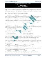 Đề thi tự luyện đại học môn vật lý - 1 potx