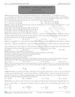 Đề thi tự luyện đại học môn vật lý - 18 pdf
