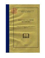 công ty cổ phần du lịch dịch vụ hội an báo cáo tài chính quý 3 năm 2011