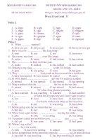 ĐỀ THI TUYỂN SINH ĐẠI HỌC 2011 Môn Thi: ANH VĂN – Practice test 11 docx