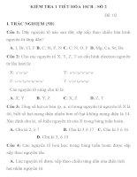 KIỂM TRA 1 TIẾT HÓA HỌC LỚP 10 CĂN BẢN MÃ ĐỀ 002 TRƯỜNG THPT BẮC YÊN THÀNH pps