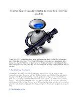 Hướng dẫn cơ bản Automator tự động hoá công việc của bạn Trong Mac OS X, có pps
