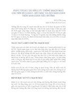 PHẪU THUẬT TÁI HỒI LƯU THÔNG MẠCH MÁU CẦU NỐI ĐÙI CHÀY - ĐÙI MÁC VÀ ĐÙI BÀN CHÂN TRÊN BÀN CHÂN TIỂU ĐƯỜNG pptx