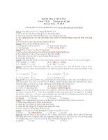 KIỂM TRA 1 TIẾT SỐ 1 Môn: Vật lý - Mã đề B pot