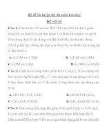 Bộ đề ôn luyện thi đh môn hóa học ĐỀ SỐ 05 pptx