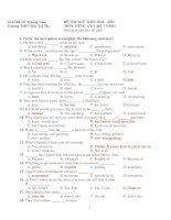 ĐÊ THI THỬ THPT 2010 - 2011 MÔN TIẾNG ANH (HỆ 7 NĂM) doc