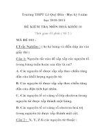 ĐỀ KIỂM TRA MÔN HOÁ HỌC MÃ ĐỀ 001 Trường THPT Lê Quý Đôn docx