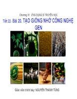 bài 20 tạo giống nhờ công nghệ gen sinh học 12
