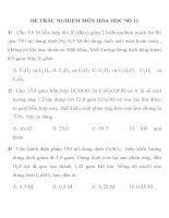 ĐỀ THI TRẮC NGHIỆM LUYỆN THI CĐ, ĐH MÔN HÓA HỌC SỐ 11 pot