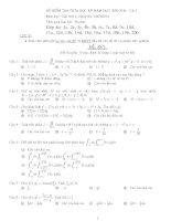 Đề giữa kì Giải tích 2 ĐH Bách Khoa TPHCM pdf