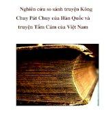 Nghiên cứu so sánh truyện Kông Chuy Pát Chuy của Hàn Quốc và truyện Tấm Cám của Việt Nam pptx