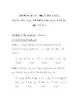 KIỂM TRA HỌC KÌ MÔN HÓA HỌC LỚP 10 MÃ ĐỀ 003 TRƯỜNG THPT PHAN BỘI CHÂU potx