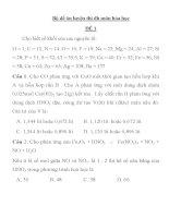 Bộ đề ôn luyện thi đh môn hóa học ĐỀ 1 ppsx