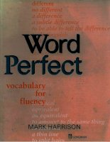 word perfect phần 1 potx