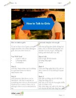 Luyện dịch tiếng anh how to talk to girls pot