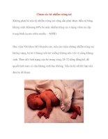 Chăm sóc bé nhiễm trùng tai pot