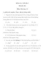 KIỂM TRA 1 TIẾT MÔN HÓA HỌC LỚP 10 MÃ ĐỀ 001 TRƯỜNG THPT TÂN KÌ 1 docx