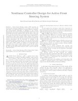 Nonlinear controller design for active front steering system