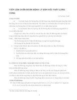 TIẾP CẬN CHẨN ĐOÁN BỆNH LÝ ĐÁM RỐI THẮT LƯNG CÙNG potx
