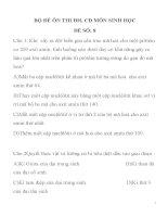 BỘ ĐỀ ÔN THI ĐH, CĐ MÔN SINH HỌC ĐỀ SỐ: 8 TRƯỜNG THPT HÀ HUY TẬP docx