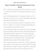 BÀI TẬP HÓA HỌC LỚP 11 CHƯƠNG 4 Dạng 1: Xác định % khối lượng mỗi nguyên tố trong HCHC doc