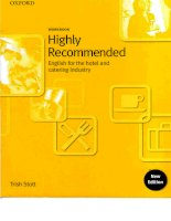 workbook highly recommended english for hotel and catering industry