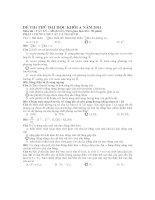 ÐỀ THI THỬ ĐẠI HỌC KHỐI A NĂM 2011 Môn thi : VẬT LÝ – Mã đề 319 pptx