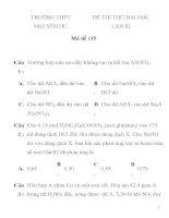 ĐỀ THI THỬ ĐẠI HỌC LẦN III Mã đề 115 RƯỜNG THPT NGUYỄN DU ppsx