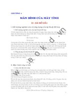 Đồ họa máy tính - Chương 1 Màn hình của máy tính - Bài 1 ppsx