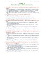 ĐỀ THI THỬ TỐT NGHIỆP MÔN TIẾNG ANH - Number 10 docx