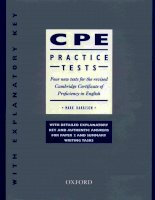 certificate in proficiency english tests oxford phần 1 pps