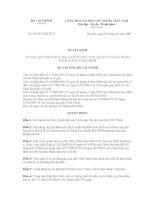 QUYẾT ĐỊNH Số: 58/2007/QĐ-BTC VỀ VIỆC QUY ĐỊNH MỨC THU, CHẾ ĐỘ THU, NỘP, QUẢN LÝ VÀ SỬ DỤNG PHÍ QUA PHÀ VĨNH THỊNH ppt