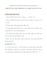BÀI TẬP HÓA HỌC LỚP 11 PHẢN ỨNG TẠO THÀNH CÁC HỢP CHẤT ÍT TAN ppsx