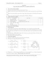 Tài liệu hướng dẫn thí nghiệm cơ sở kỹ thuật điện - Bài 6 docx