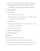 Giáo án hóa học lớp 11 nâng cao - Bài 24: Luyện tập tính chất của cacbon, silic và hợp chất của chúng doc