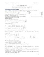 Bài tập cơ học đại cương - Phần 2 Dao động và sóng cơ - Chương 2 pps