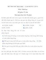 ĐỀ THI THỬ ĐẠI HỌC – CAO ĐẲNG LẦN 4 TRƯỜNG THPT PHAN THÚC TRỰC docx