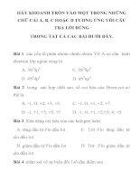 bài tập trắc nghiệm môn hóa học lớp 10 ppsx
