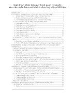 Giáo trình phân tích quy trình quản lý nguồn vốn của ngân hàng với chức năng huy động tiết kiệm p1 potx