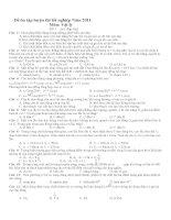 Đề ôn tập luyện thi tốt nghiệp Năm 2011 Môn: Vật lý Đề 1 :(có đáp án) pptx