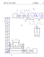 Đề án kĩ thuật Thiết kế hệ thống dẫn động vít tải để tải xi măng